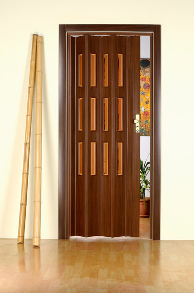 Двери-гармошка Forte ELVIRA красное дерево.